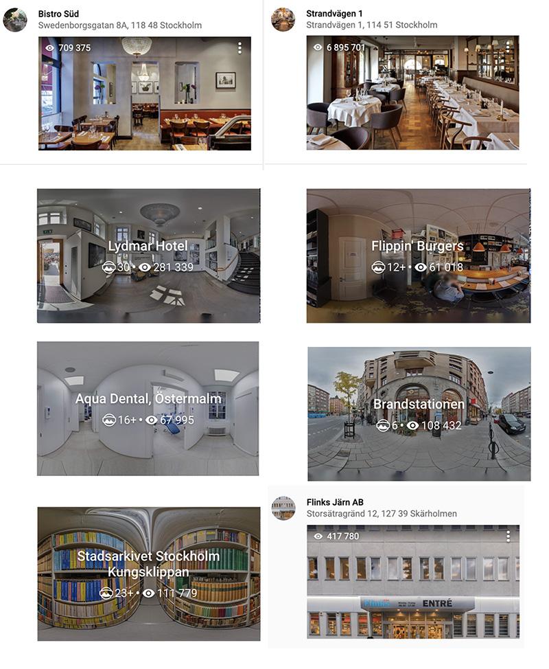 Street view fotografering, virtuellt rundtur, 360 graders panorama,  panoramafoto,