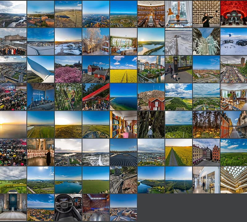 karta över mängden uppdrag med 360 graders foto. Vr foto, 360 fotografering, panorama.